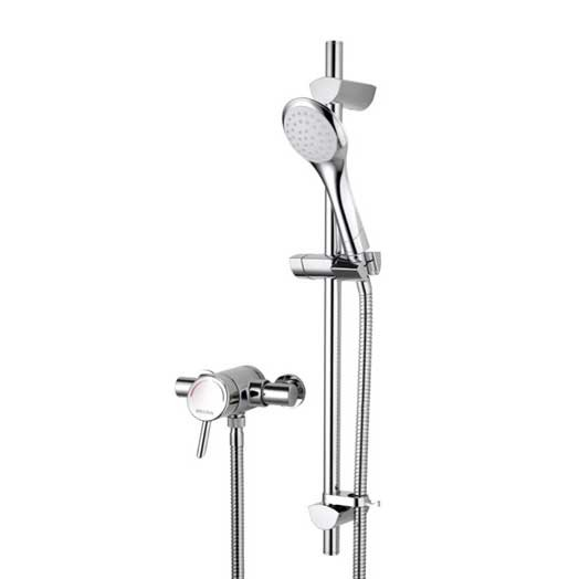 Acute Exposed Shower with Adjustable Riser